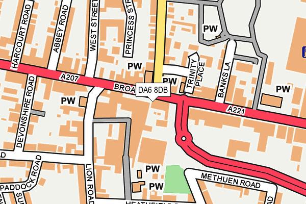 DA6 8DB map - OS OpenMap – Local (Ordnance Survey)
