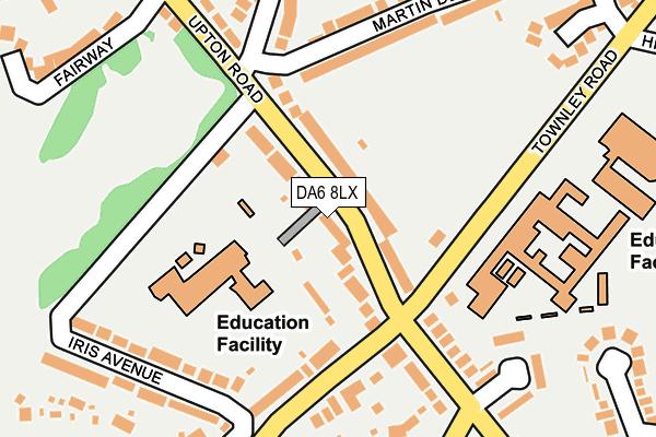DA6 8LX map - OS OpenMap – Local (Ordnance Survey)