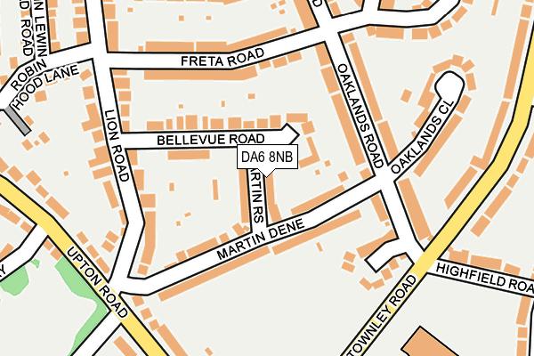DA6 8NB map - OS OpenMap – Local (Ordnance Survey)