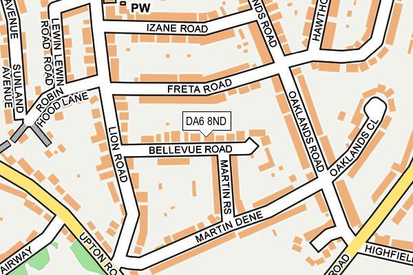 DA6 8ND map - OS OpenMap – Local (Ordnance Survey)