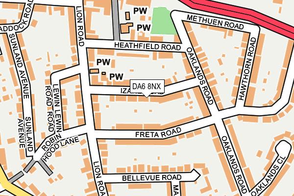 DA6 8NX map - OS OpenMap – Local (Ordnance Survey)