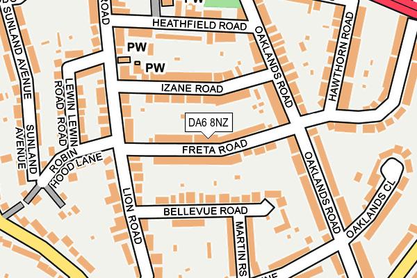 DA6 8NZ map - OS OpenMap – Local (Ordnance Survey)