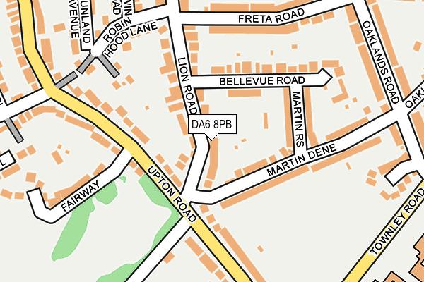 DA6 8PB map - OS OpenMap – Local (Ordnance Survey)