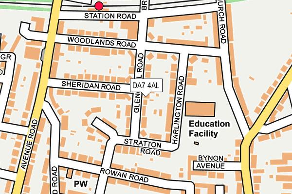 DA7 4AL map - OS OpenMap – Local (Ordnance Survey)