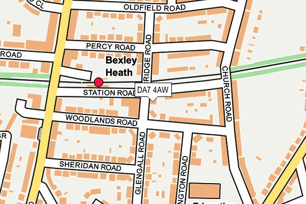 DA7 4AW map - OS OpenMap – Local (Ordnance Survey)