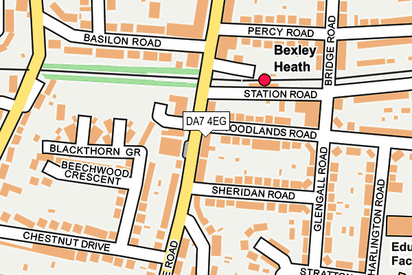 DA7 4EG map - OS OpenMap – Local (Ordnance Survey)
