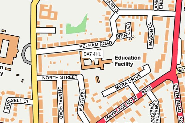 DA7 4HL map - OS OpenMap – Local (Ordnance Survey)