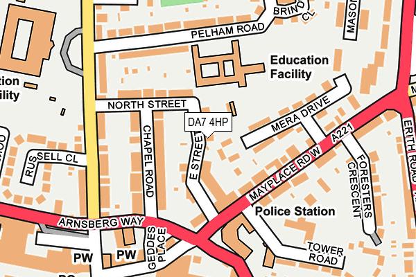 DA7 4HP map - OS OpenMap – Local (Ordnance Survey)