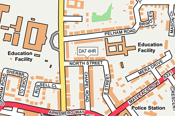DA7 4HR map - OS OpenMap – Local (Ordnance Survey)