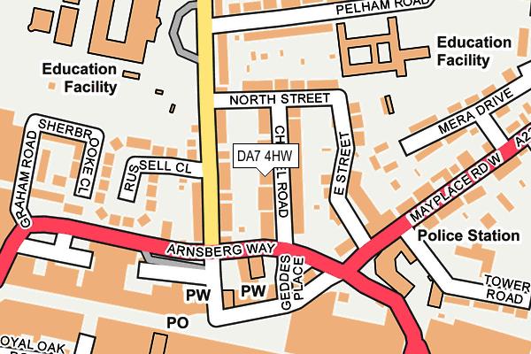 DA7 4HW map - OS OpenMap – Local (Ordnance Survey)