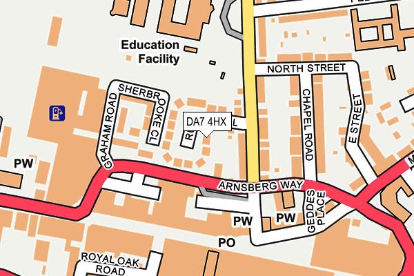 DA7 4HX map - OS OpenMap – Local (Ordnance Survey)