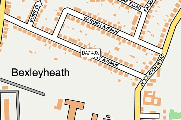 DA7 4JX map - OS OpenMap – Local (Ordnance Survey)