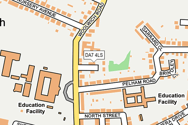 DA7 4LS map - OS OpenMap – Local (Ordnance Survey)