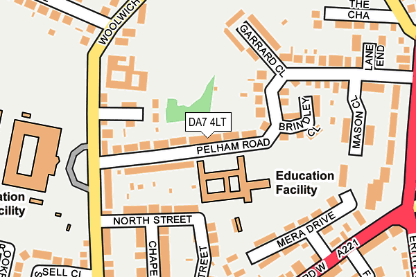 Map of LASHED OUT LTD at local scale