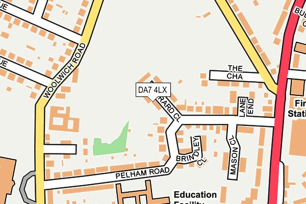 DA7 4LX map - OS OpenMap – Local (Ordnance Survey)