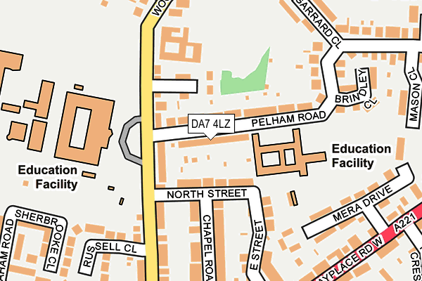 DA7 4LZ map - OS OpenMap – Local (Ordnance Survey)