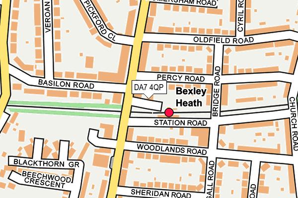 DA7 4QP map - OS OpenMap – Local (Ordnance Survey)