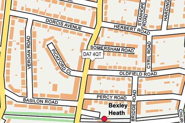 DA7 4QT map - OS OpenMap – Local (Ordnance Survey)