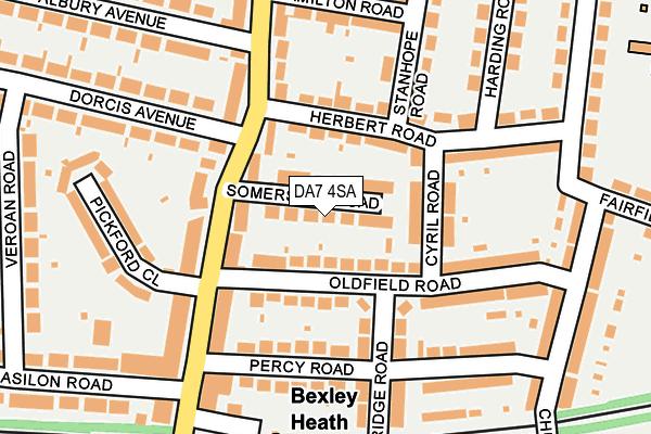DA7 4SA map - OS OpenMap – Local (Ordnance Survey)