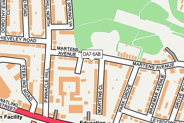 DA7 6AB map - OS OpenMap – Local (Ordnance Survey)