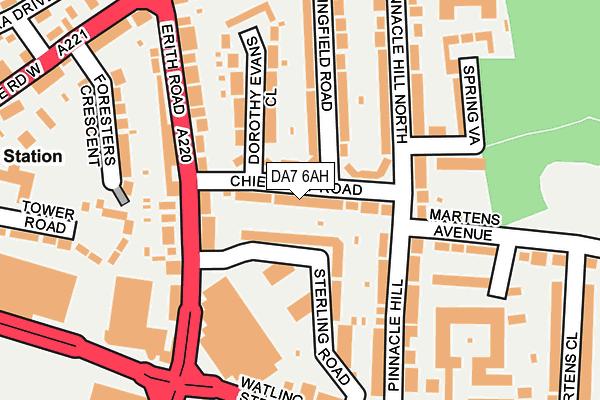 DA7 6AH map - OS OpenMap – Local (Ordnance Survey)