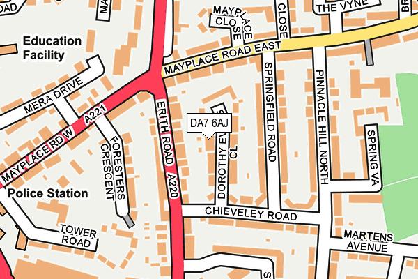 DA7 6AJ map - OS OpenMap – Local (Ordnance Survey)
