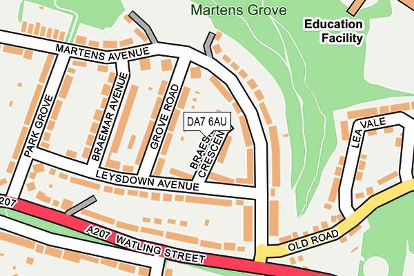 DA7 6AU map - OS OpenMap – Local (Ordnance Survey)