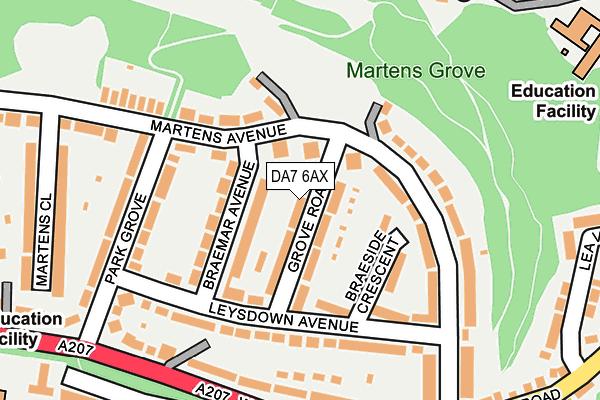 DA7 6AX map - OS OpenMap – Local (Ordnance Survey)