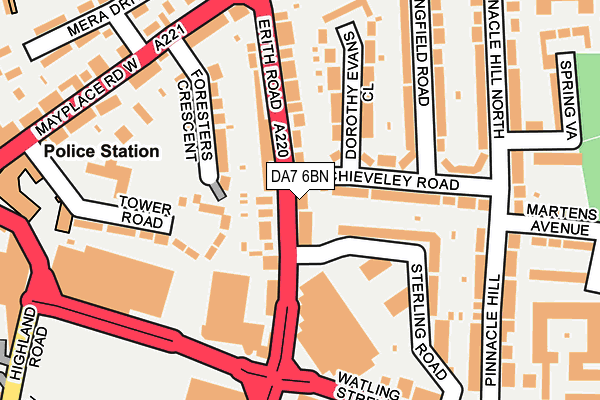 DA7 6BN map - OS OpenMap – Local (Ordnance Survey)