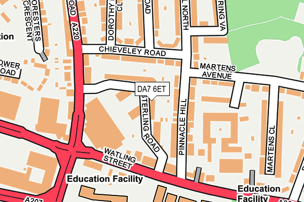 DA7 6ET map - OS OpenMap – Local (Ordnance Survey)