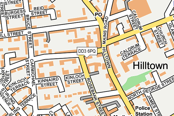 DD3 6PQ map - OS OpenMap – Local (Ordnance Survey)