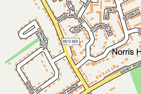 DE12 6EX map - OS OpenMap – Local (Ordnance Survey)