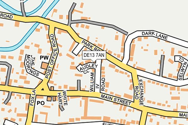 DE13 7AN map - OS OpenMap – Local (Ordnance Survey)