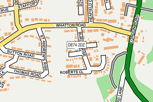 DE74 2DZ map - OS OpenMap – Local (Ordnance Survey)