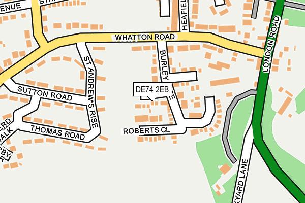 DE74 2EB map - OS OpenMap – Local (Ordnance Survey)