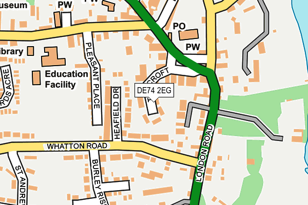 Map of THOMAS ROPER PT UK LTD at local scale