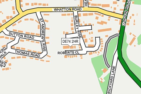 DE74 2HR map - OS OpenMap – Local (Ordnance Survey)