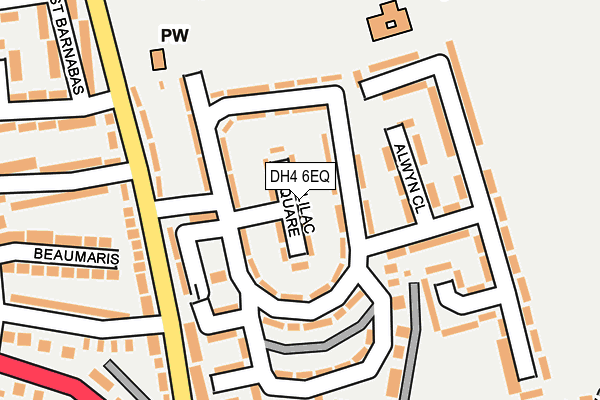 Map of NORTH EAST PLUMBING AND GAS SERVICES LTD at local scale