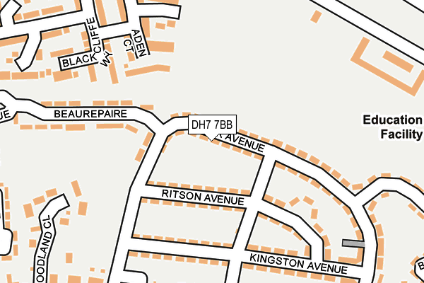 Map of C WOOLAMS DRIVEWAYS LTD at local scale