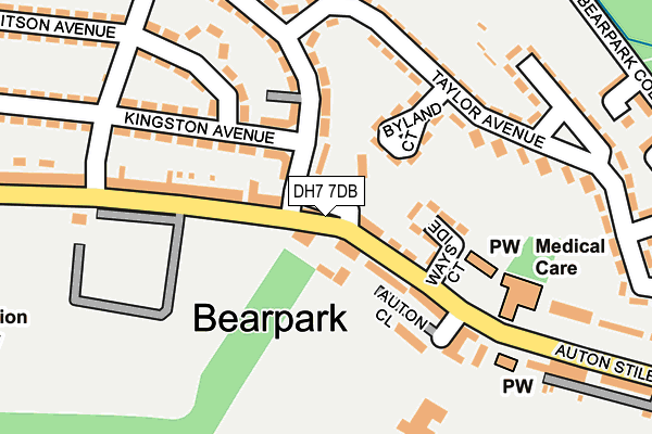 Map of VICEROY DURHAM LIMITED at local scale