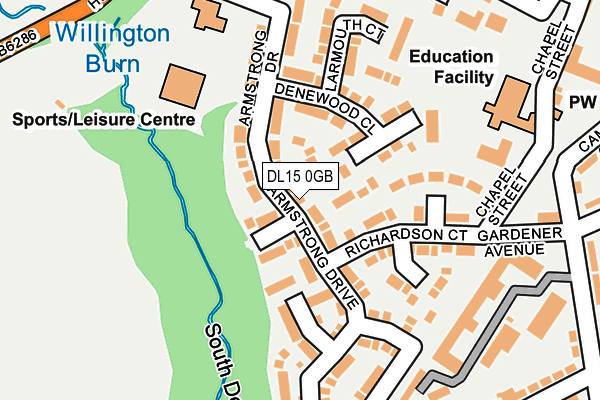 Map of CAVAZE PROPERTY IMPROVEMENTS LTD at local scale