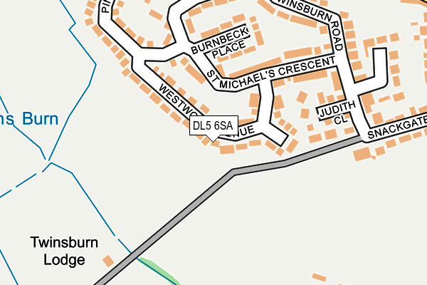 Map of L1 PROPERTIES LTD at local scale