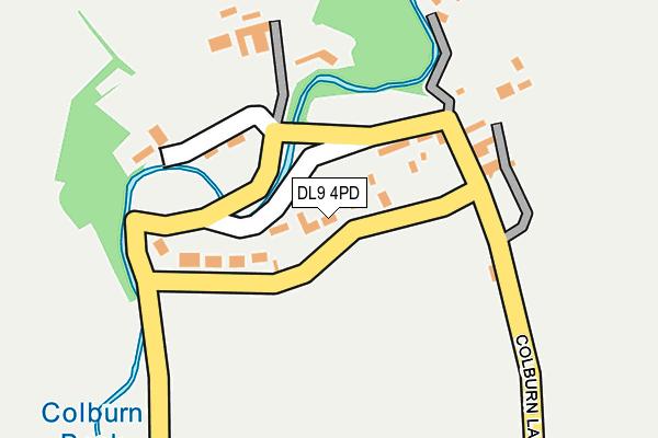DL9 4PD map - OS OpenMap – Local (Ordnance Survey)