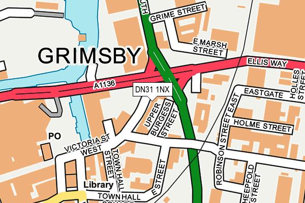 DN31 1NX map - OS OpenMap – Local (Ordnance Survey)