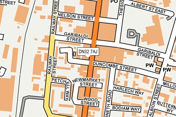 DN32 7AJ map - OS OpenMap – Local (Ordnance Survey)