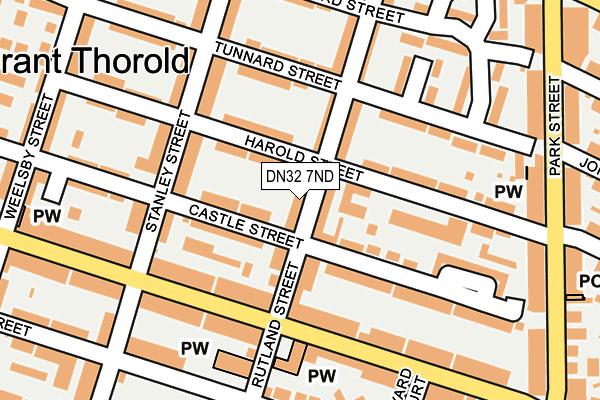DN32 7ND map - OS OpenMap – Local (Ordnance Survey)