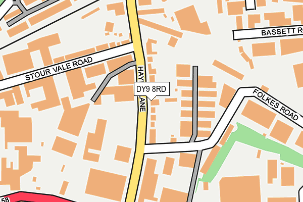 Map of PRESTIGE SPORTS (DUDLEY) LIMITED at local scale