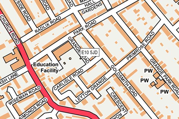 E10 5JD map - OS OpenMap – Local (Ordnance Survey)