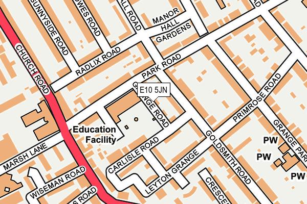 E10 5JN map - OS OpenMap – Local (Ordnance Survey)