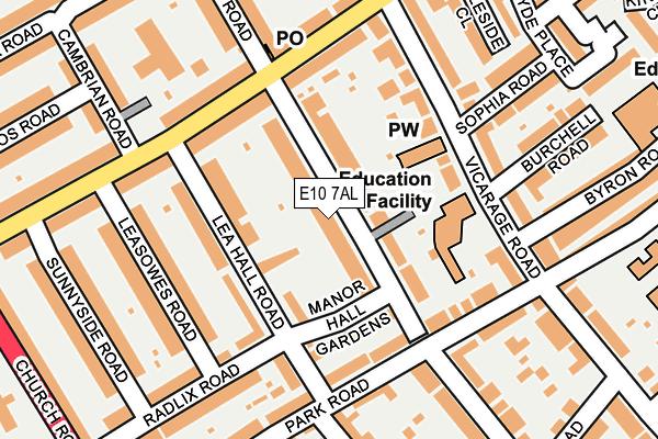 E10 7AL map - OS OpenMap – Local (Ordnance Survey)